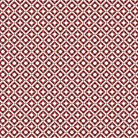 Geometric Small 4 (Cayenne) fabric by vannina on Spoonflower - custom fabric