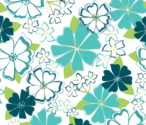 Aloha, Luau fabric by kateriley on Spoonflower - custom fabric