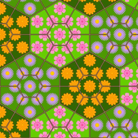 terrarium U65 - 3 isolated worlds fabric by sef on Spoonflower - custom fabric
