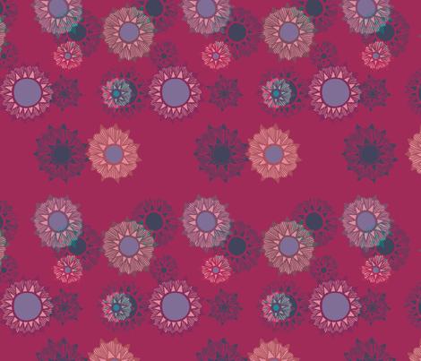 Moon flowers fabric laragurney spoonflower for Moon print fabric