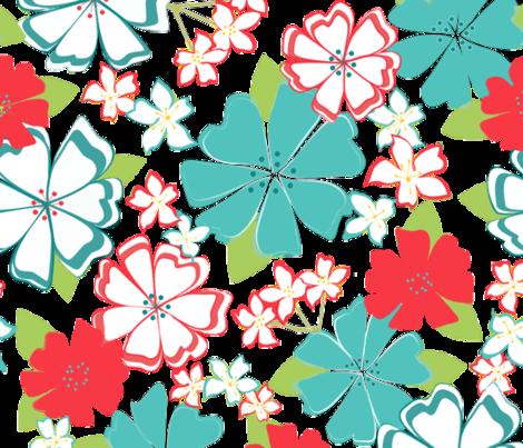Aloha, Coral fabric by kateriley on Spoonflower - custom fabric