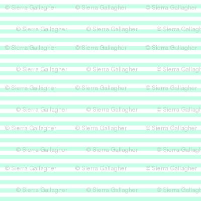 Mint Stripes 1/2 Inch Horizontal