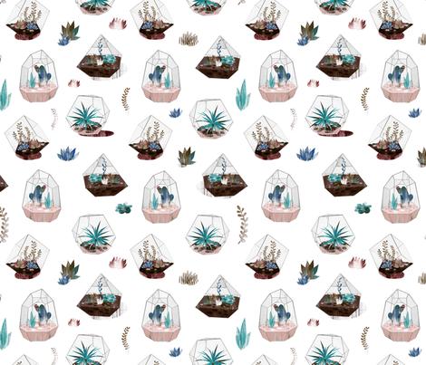 Terrariums! fabric by wideeyedtree on Spoonflower - custom fabric