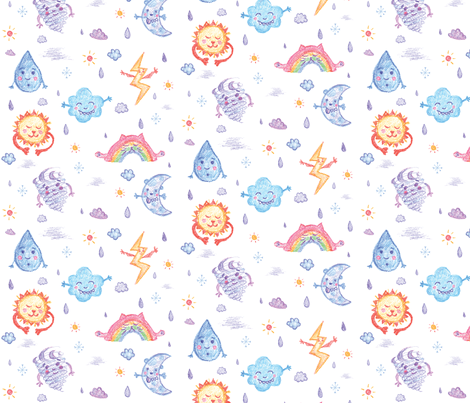 Weather Monsters fabric by sarael on Spoonflower - custom fabric