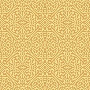 rosette in spring gold