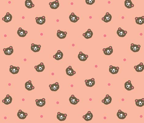 Dotty Bear Faces fabric by littleoddforest on Spoonflower - custom fabric