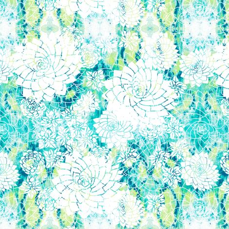 summery succulents fabric by rubydoor on Spoonflower - custom fabric