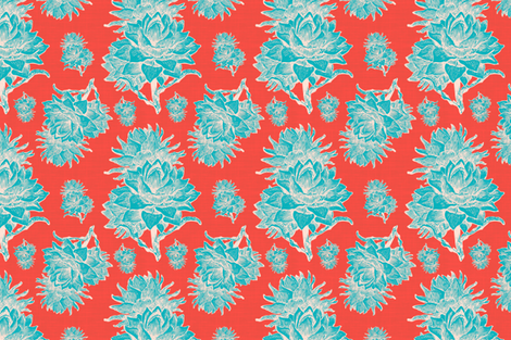Artichoktica Americana  fabric by brainsarepretty on Spoonflower - custom fabric
