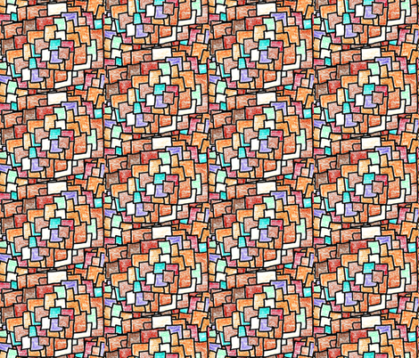 Shingles (bright) fabric by anniedeb on Spoonflower - custom fabric