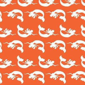 mermaid_swimming Orange