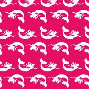 Mermaid Swimming Hot Pink
