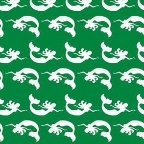 Mermaid Swimming Green