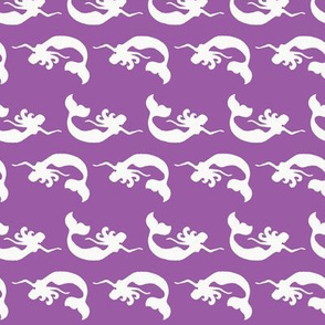 Mermaid Swimming Purple