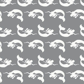 Mermaid Swimming Grey