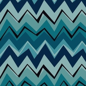 Wonky Chevron Blues