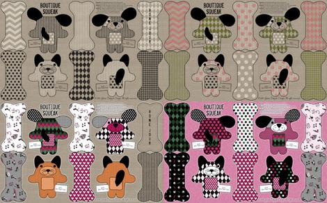 Boutique Squeak Sampler fabric by jolenebalyeatdesigns on Spoonflower - custom fabric