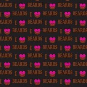 i love beards pink