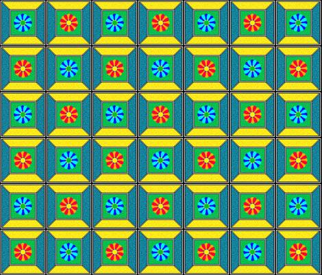 PeekDownAsMyTerrariumGrowing fabric by grannynan on Spoonflower - custom fabric