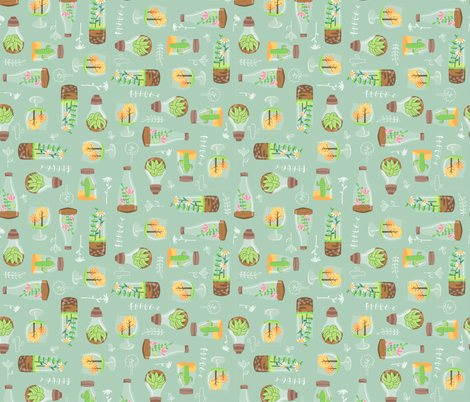 Minimal terrariums fabric by martamunte on Spoonflower - custom fabric