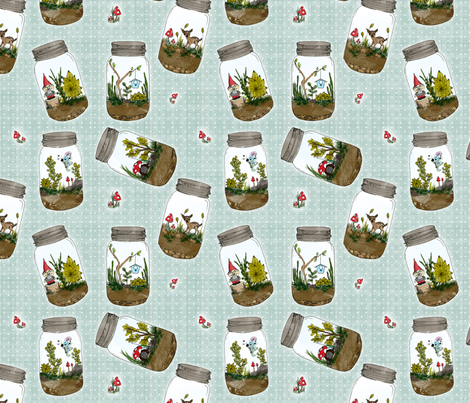 Jar of Enchantment fabric by olivia_henry on Spoonflower - custom fabric