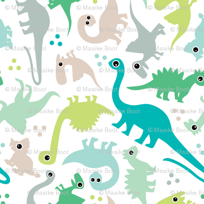 Cute baby boy pastel dinosaur fantasy series
