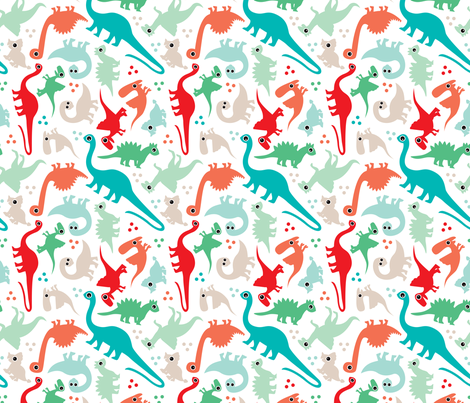 Cute baby boy dinosaur fantasy series fabric by littlesmilemakers on Spoonflower - custom fabric