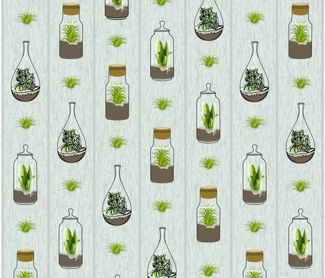 terrarium_woodgrain fabric by gritgirl on Spoonflower - custom fabric