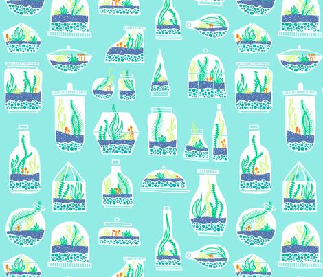 Tiny Green Worlds fabric by emilybluestar on Spoonflower - custom fabric
