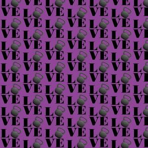 purple kettlebell