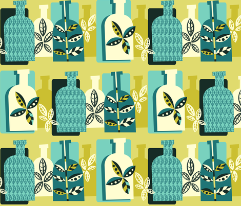 Bottle Botany fabric by celiaforrester on Spoonflower - custom fabric