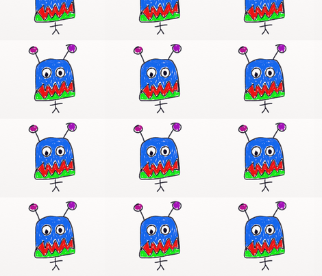 Monster fabric by dianepinney on Spoonflower - custom fabric
