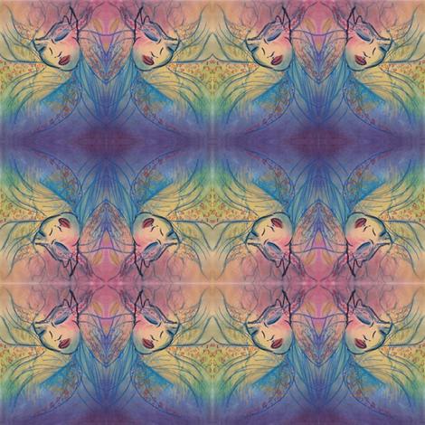 Pastel Maiden fabric by peachypoo on Spoonflower - custom fabric