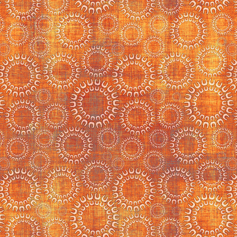 Copper and rust faux linen rings fabric by joanmclemore on Spoonflower - custom fabric