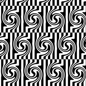 Op Art Offset Black and White