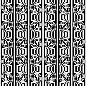Op Art Swirl Black and White