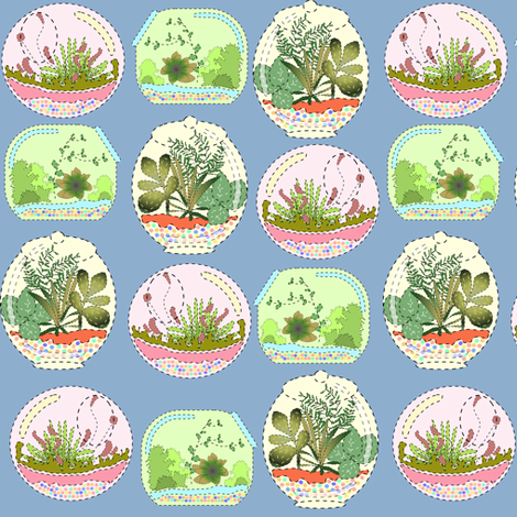 Mock Applique Terrariums fabric by eclectic_house on Spoonflower - custom fabric