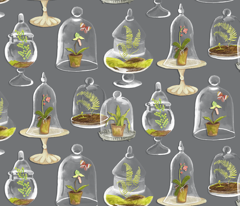 Terrariums fabric by jillbyers on Spoonflower - custom fabric
