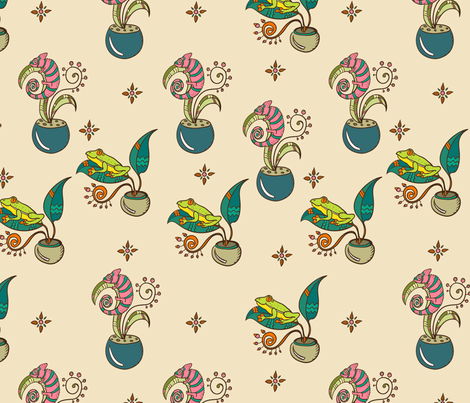 Terrariums Happiness fabric by anat_om on Spoonflower - custom fabric