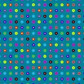 Polka Dots on Aqua