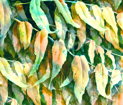Watercolor Leaves fabric by susanjohnson on Spoonflower - custom fabric