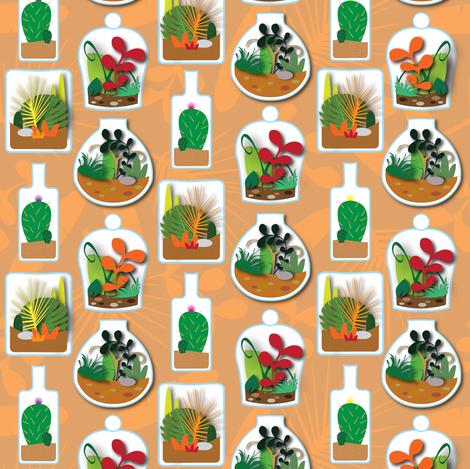 Terrific Terrariums fabric by illustrative_images on Spoonflower - custom fabric