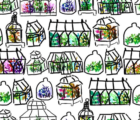 painting them terrariums fabric by babysisterrae on Spoonflower - custom fabric