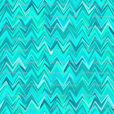 aquamarine zigzag