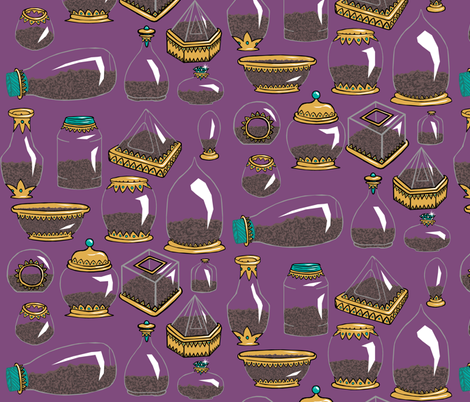 Empty Terrariums fabric by pond_ripple on Spoonflower - custom fabric