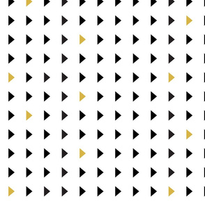 triangles // black and gold