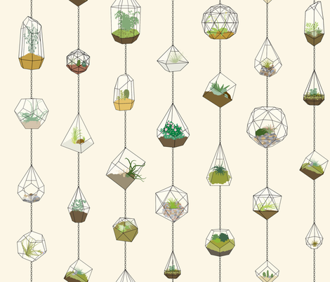 Hanging_Terrariums fabric by aalk on Spoonflower - custom fabric