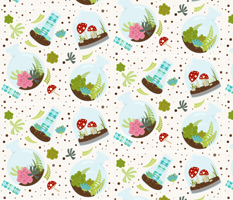 Spring Terrariums fabric by taintedsweets on Spoonflower - custom fabric