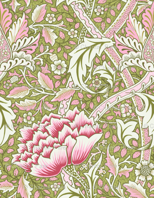 William Morris Windrush Green Pink