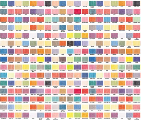 120 Colors Color Chart Palette Crayola Crayons Wallpaper Pennycandy Spoonflower