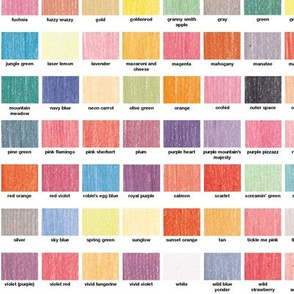 120 Colors || color chart palette crayola crayons